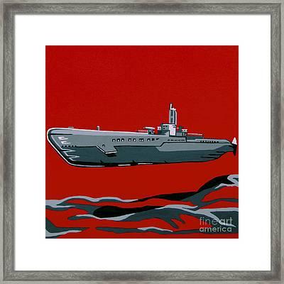 Submarine Sandwhich Framed Print