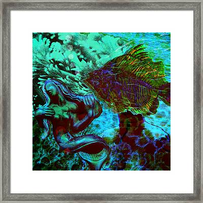 Submerged Courtship Framed Print by Maria Jesus Hernandez