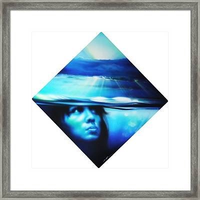 Portrait - ' Submersion ' Framed Print