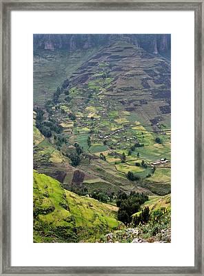 Subsistence Farming In Simien Mountains Framed Print by Tony Camacho