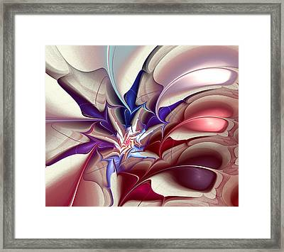 Subspace Fracture Framed Print by Anastasiya Malakhova