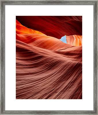 Subterranean Waves Framed Print
