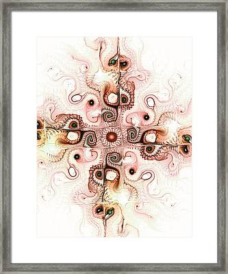 Subtle Cross Framed Print by Anastasiya Malakhova