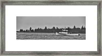 Framed Print featuring the photograph Subtle Mooring by Richard Bean