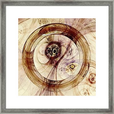 Subtle Ring Framed Print by Anastasiya Malakhova