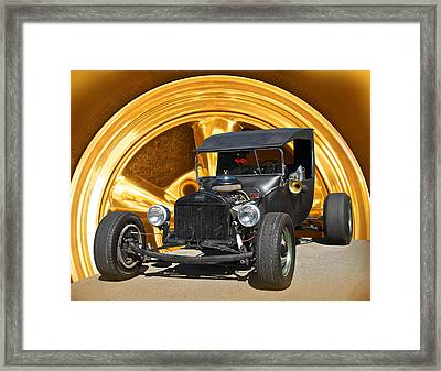 Subtle T Rat Rod Framed Print