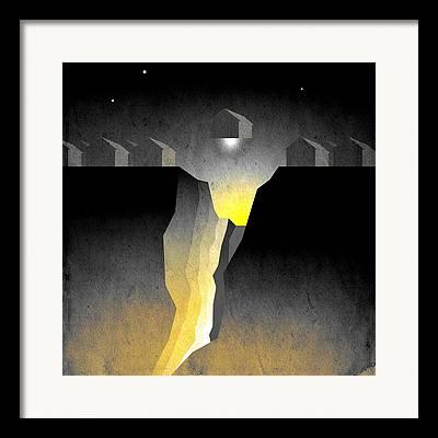 Canyon Digital Art Framed Prints
