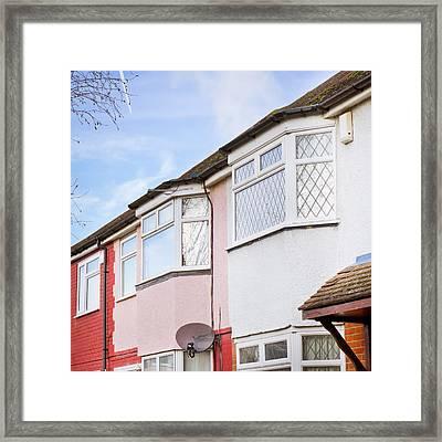 Suburban Homes Framed Print