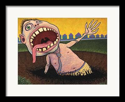 Angst Framed Prints