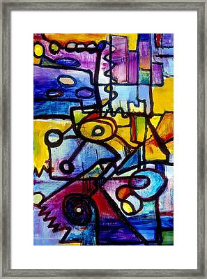 Suburbias Daily Beat Framed Print