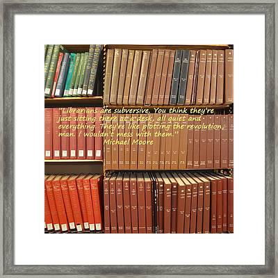Subversive Librarians Framed Print by Philip Ralley