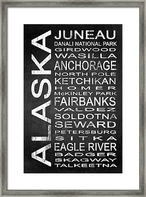 Subway Alaska State 1 Framed Print by Melissa Smith