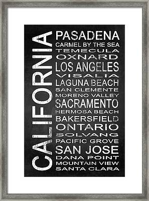Subway California State 2 Framed Print by Melissa Smith