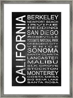 Subway California State 3 Framed Print