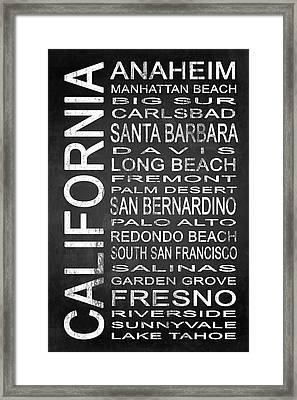 Subway California State 4 Framed Print by Melissa Smith