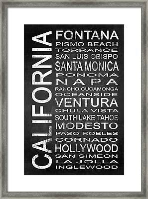 Subway California State 5 Framed Print