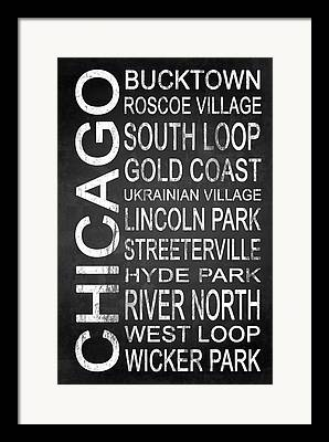 Lincoln City Mixed Media Framed Prints
