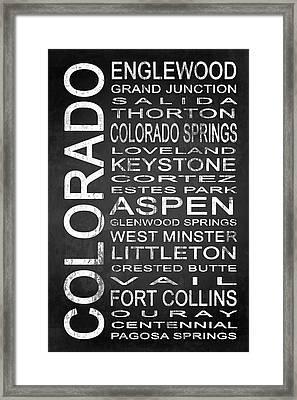 Subway Colorado State 2 Framed Print by Melissa Smith