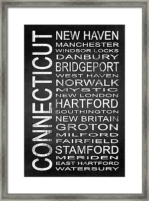 Subway Connecticut State 1 Framed Print by Melissa Smith