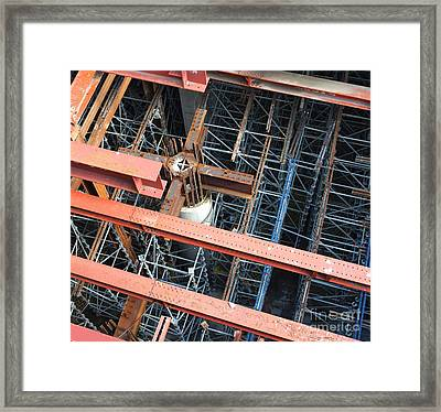 Subway Construction Site Framed Print