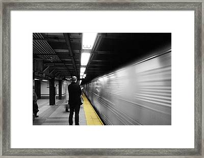 Subway Framed Print by Enrique  Coloma