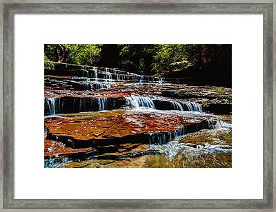 Subway Falls Framed Print by Chad Dutson