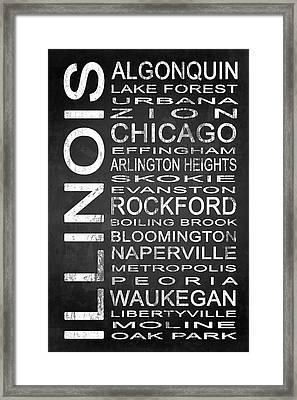Subway Illinois State 1 Framed Print