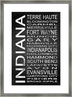 Subway Indiana State 1 Framed Print by Melissa Smith