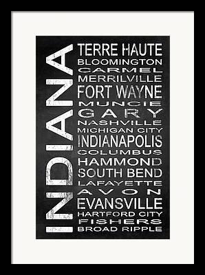 Evansville Digital Art Framed Prints