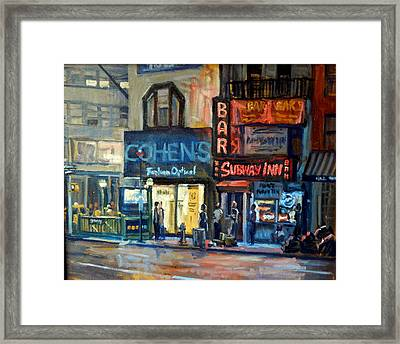 Subway Inn New York City Nyc Framed Print by Thor Wickstrom