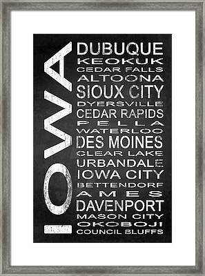 Subway Iowa State 1 Framed Print by Melissa Smith