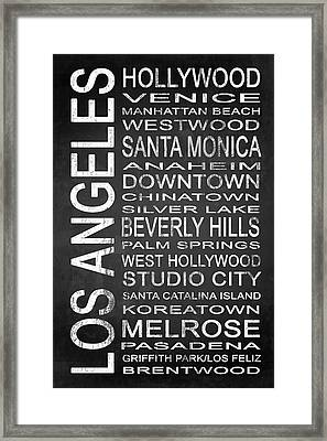 Subway Los Angeles 1 Framed Print by Melissa Smith