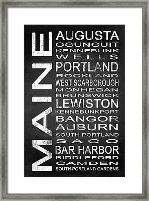 Subway Maine State 1 Framed Print by Melissa Smith