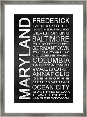 Subway Maryland State 1 Framed Print by Melissa Smith