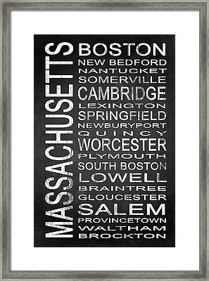 Subway Massachusetts State 1 Framed Print