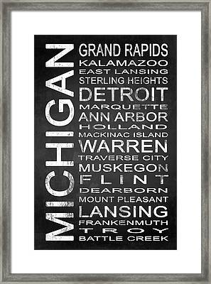Subway Michigan State 1 Framed Print by Melissa Smith