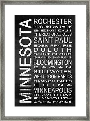 Subway Minnesota State 1 Framed Print