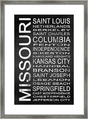 Subway Missouri State 1 Framed Print