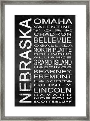 Subway Nebraska State 1 Framed Print by Melissa Smith