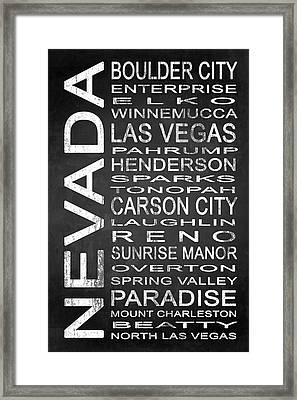 Subway Nevada State 1 Framed Print by Melissa Smith