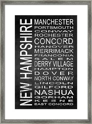 Subway New Hampshire State 1 Framed Print by Melissa Smith