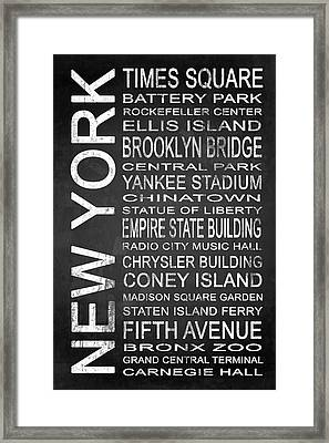 Subway New York 1 Framed Print by Melissa Smith