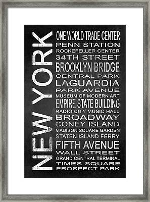 Subway New York 3 Framed Print by Melissa Smith