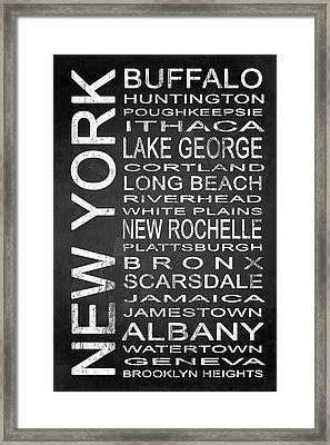 Subway New York State 1 Framed Print