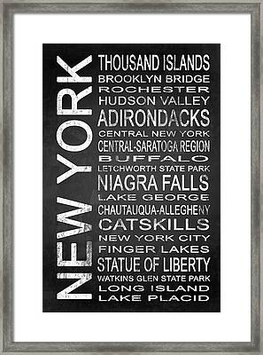 Subway New York State 4 Framed Print by Melissa Smith