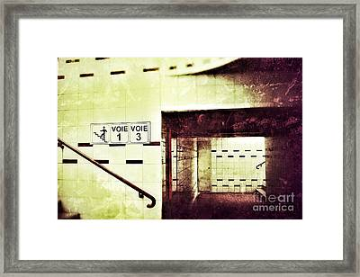 Framed Print featuring the photograph Subway  by Nick  Biemans