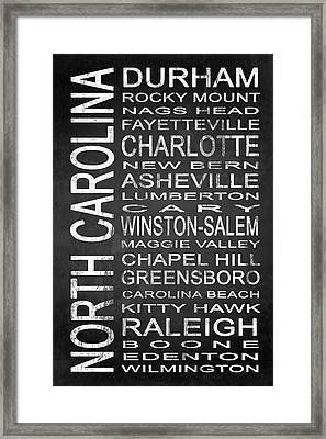 Subway North Carolina State 1 Framed Print