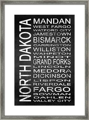 Subway North Dakota State 1 Framed Print by Melissa Smith