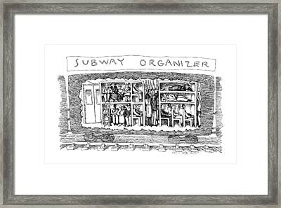 Subway Organizer Framed Print by John O'Brien
