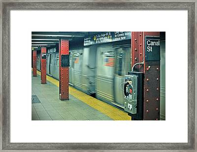 Subway Framed Print by Paul Van Baardwijk